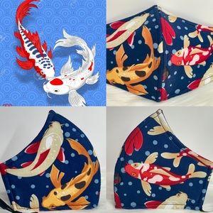 Japanese Koi Fish Designer adult face mask